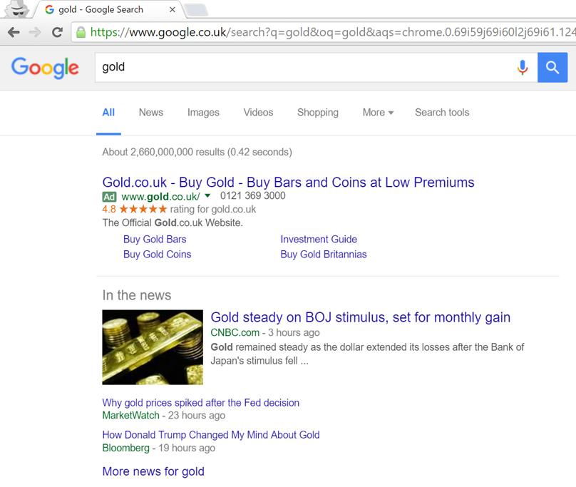 'Gold' Google News